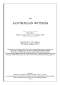 The Australian Witness 1853-1854